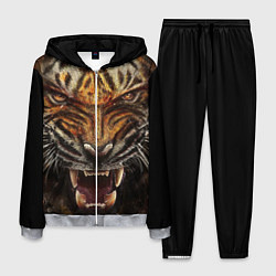 Костюм мужской Разъяренный тигр цвета 3D-меланж — фото 1