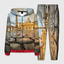 Костюм мужской Площадь святого Петра цвета 3D-красный — фото 1