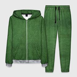 Костюм мужской Змеиная зеленая кожа цвета 3D-меланж — фото 1