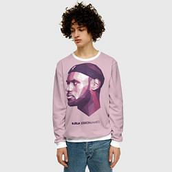 Свитшот мужской LeBron James: Poly Violet цвета 3D-белый — фото 2