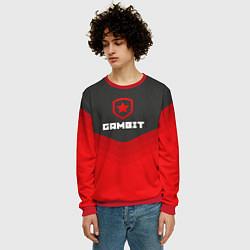 Свитшот мужской Gambit Gaming Uniform цвета 3D-красный — фото 2