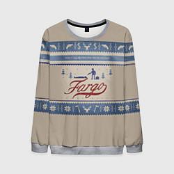 Свитшот мужской Fargo Winter цвета 3D-меланж — фото 1