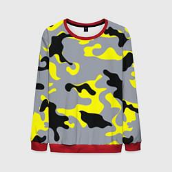 Свитшот мужской Yellow & Grey Camouflage цвета 3D-красный — фото 1