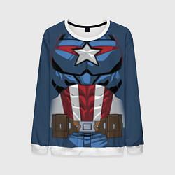 Свитшот мужской Captain America Costume цвета 3D-белый — фото 1