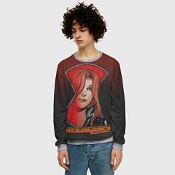 Свитшот мужской ЧернаяВдова цвета 3D-меланж — фото 2