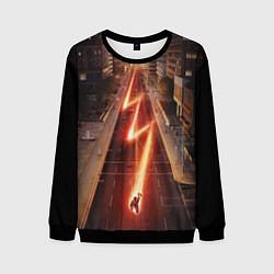 Свитшот мужской The Flash цвета 3D-черный — фото 1