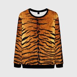Свитшот мужской Шкура Тигра цвета 3D-черный — фото 1