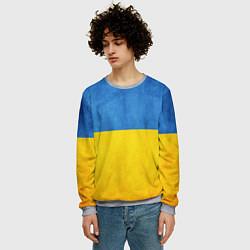 Свитшот мужской Украина цвета 3D-меланж — фото 2
