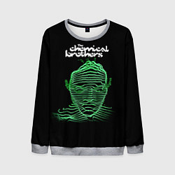 Свитшот мужской Chemical Brothers: Acid lines цвета 3D-меланж — фото 1