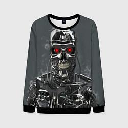 Свитшот мужской Скелет Терминатора цвета 3D-черный — фото 1