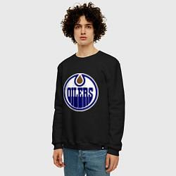 Свитшот хлопковый мужской Edmonton Oilers цвета черный — фото 2