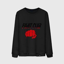 Свитшот хлопковый мужской Fight Club цвета черный — фото 1