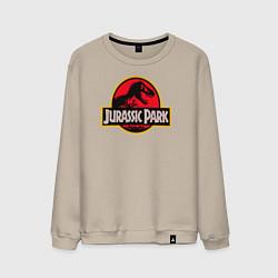 Свитшот хлопковый мужской Jurassic Park цвета миндальный — фото 1