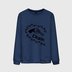 Свитшот хлопковый мужской Clyde цвета тёмно-синий — фото 1