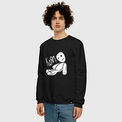 Свитшот хлопковый мужской Korn Toy цвета черный — фото 2