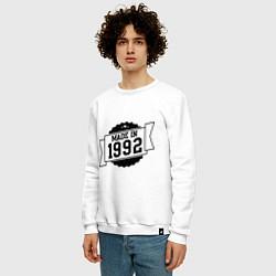 Свитшот хлопковый мужской Made in 1992 цвета белый — фото 2