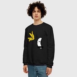 Свитшот хлопковый мужской Банан стриптизер цвета черный — фото 2