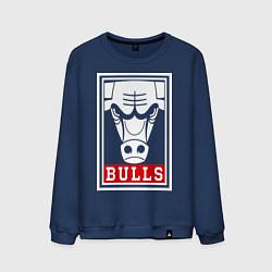 Свитшот хлопковый мужской Red Bulls цвета тёмно-синий — фото 1