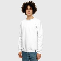 Свитшот хлопковый мужской IM Sorry цвета белый — фото 2