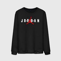 Свитшот хлопковый мужской MICHAEL JORDAN цвета черный — фото 1