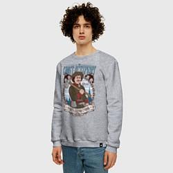 Свитшот хлопковый мужской Санкт-Петербург цвета меланж — фото 2