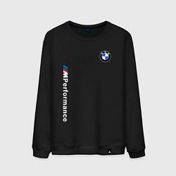Свитшот хлопковый мужской BMW M PERFORMANCE 2020 цвета черный — фото 1