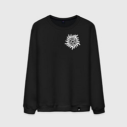 Свитшот хлопковый мужской Supernatural Pentagram цвета черный — фото 1
