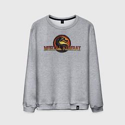 Свитшот хлопковый мужской Mortal Kombat цвета меланж — фото 1