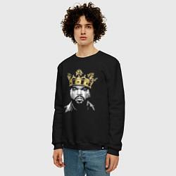 Свитшот хлопковый мужской Ice Cube King цвета черный — фото 2
