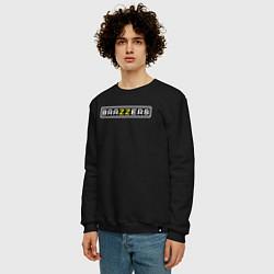 Свитшот хлопковый мужской Brazzers цвета черный — фото 2