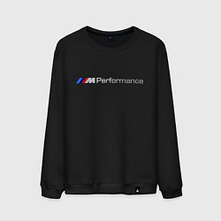 Свитшот хлопковый мужской BMW M Performance цвета черный — фото 1