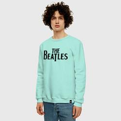 Свитшот хлопковый мужской The Beatles цвета мятный — фото 2