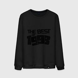Свитшот хлопковый мужской The best of 1998 цвета черный — фото 1
