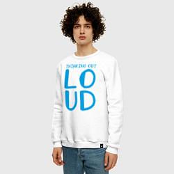 Свитшот хлопковый мужской Thinking Out: Loud цвета белый — фото 2