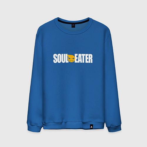 Мужской свитшот Soul Eater: White / Синий – фото 1