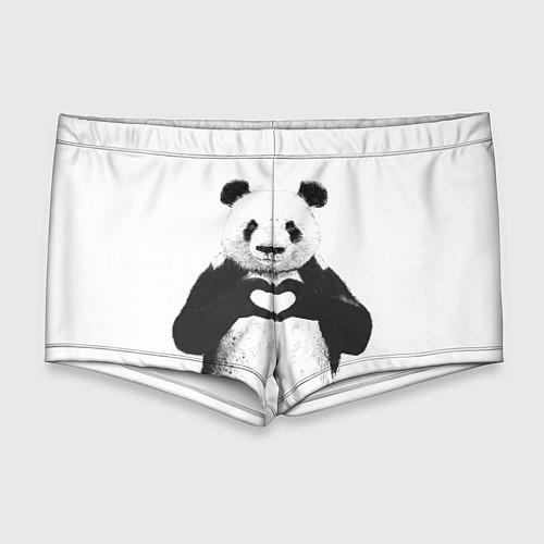 Мужские плавки Panda Love / 3D – фото 1