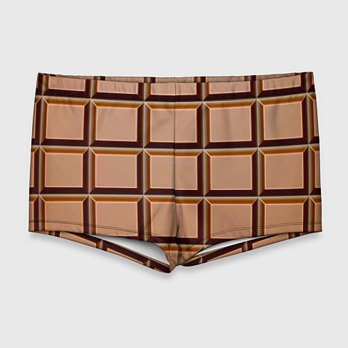 Мужские плавки Шоколад / 3D – фото 1
