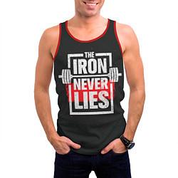 Майка-безрукавка мужская The iron never lies цвета 3D-красный — фото 2