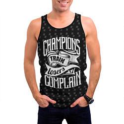 Майка-безрукавка мужская Champions Train цвета 3D-черный — фото 2