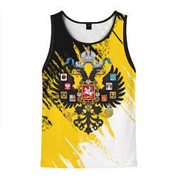 Майка-безрукавка мужская Имперский флаг и герб цвета 3D-черный — фото 1
