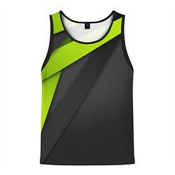 Майка-безрукавка мужская Спортивная геометрия 6 цвета 3D-черный — фото 1