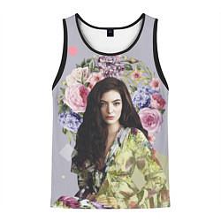Майка-безрукавка мужская Lorde Floral цвета 3D-черный — фото 1