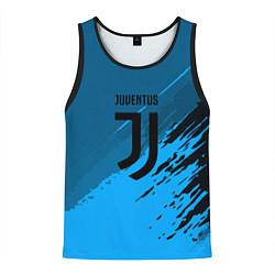 Майка-безрукавка мужская FC Juventus: Abstract style цвета 3D-черный — фото 1