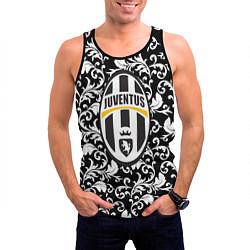 Майка-безрукавка мужская FC Juventus: Floral Logo цвета 3D-черный — фото 2