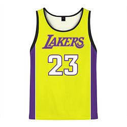 Майка-безрукавка мужская NBA Lakers 23 цвета 3D-черный — фото 1