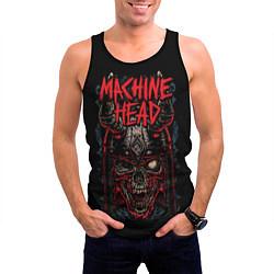 Майка-безрукавка мужская Machine Head: Blooded Skull цвета 3D-черный — фото 2