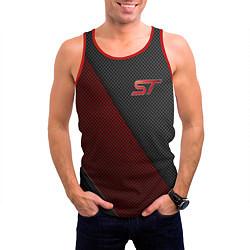 Майка-безрукавка мужская Ford ST цвета 3D-красный — фото 2