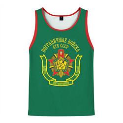 Майка-безрукавка мужская Пограничные Войска КГБ СССР цвета 3D-красный — фото 1