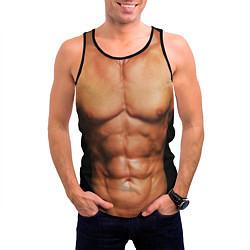 Майка-безрукавка мужская Идеальное тело цвета 3D-черный — фото 2