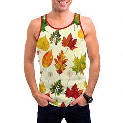 Майка-безрукавка мужская Осень цвета 3D-красный — фото 2